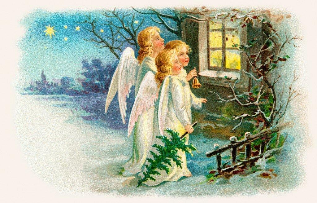 Рождественский свет открытки
