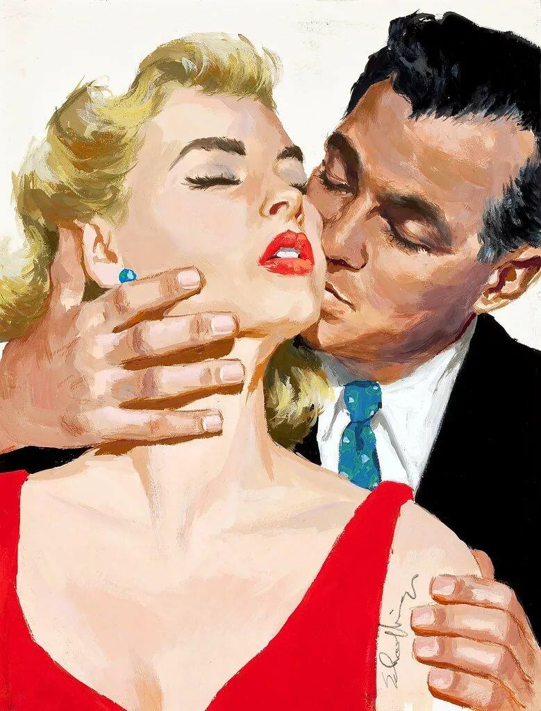 Картины постеры мужчина и женщина