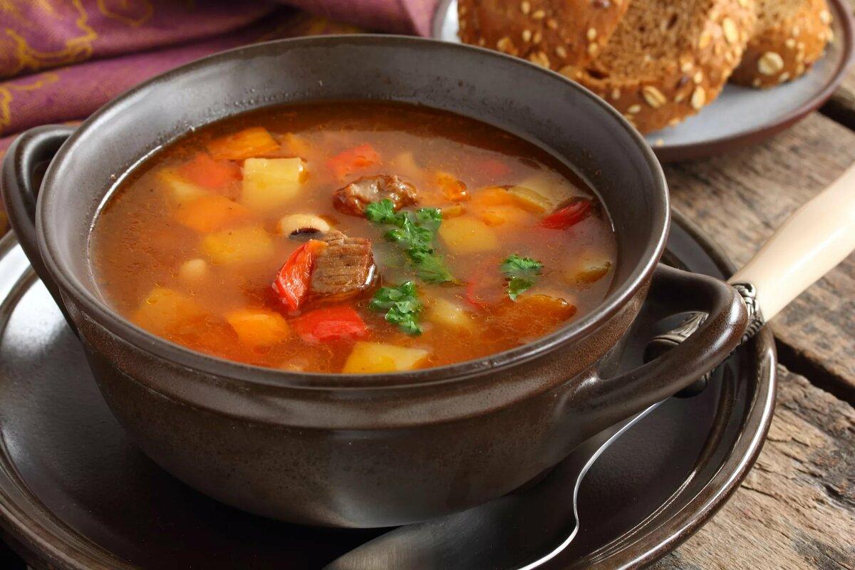 рецепты суп с мясом в картинках живых