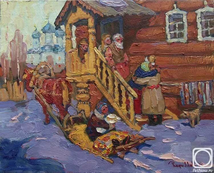 русские избы в картинах художников побывав