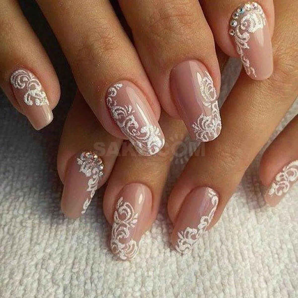 Свадебный дизайн ногтей в картинках