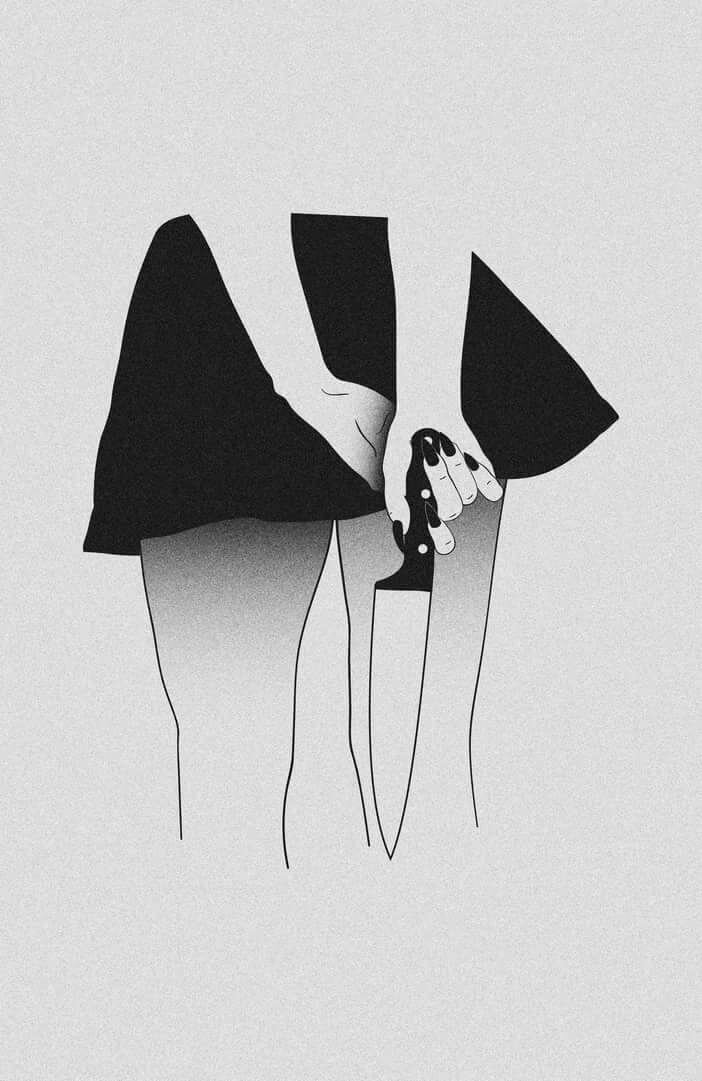 Картинки минимализм для срисовки черно белые