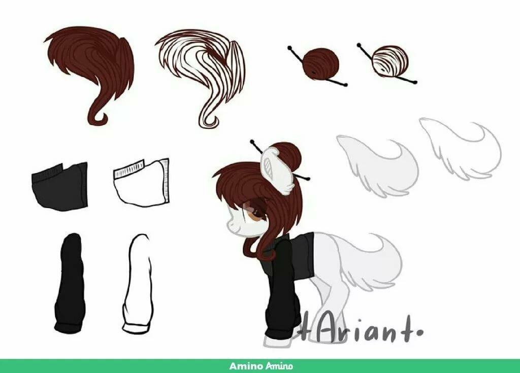 Картинки одежда аксессуары гривы и хвосты
