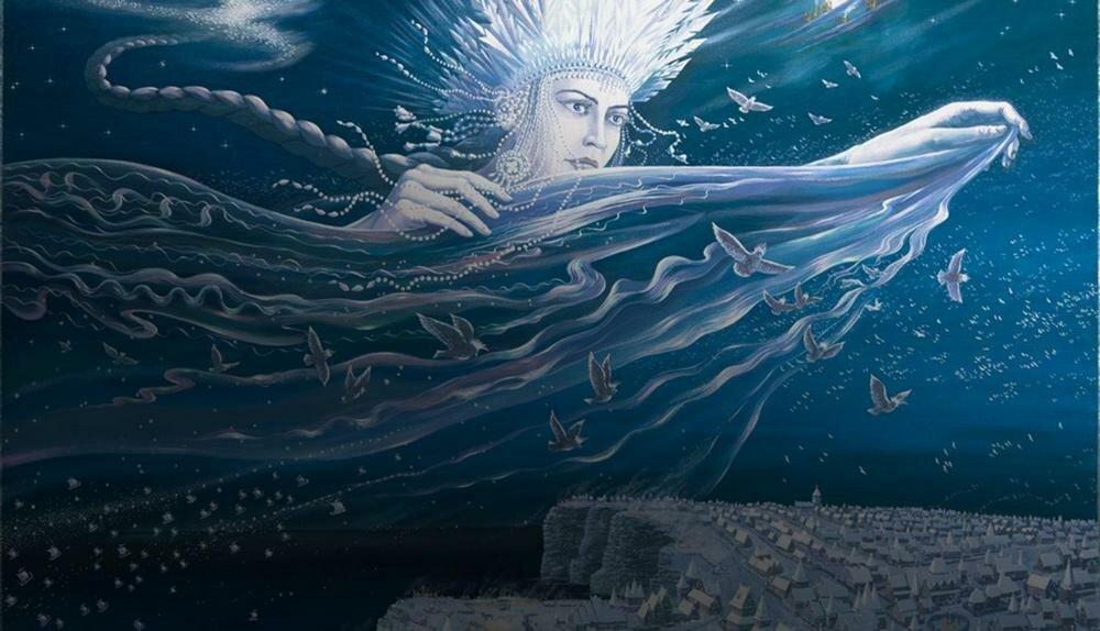 Летящая Богиня над Арконой
