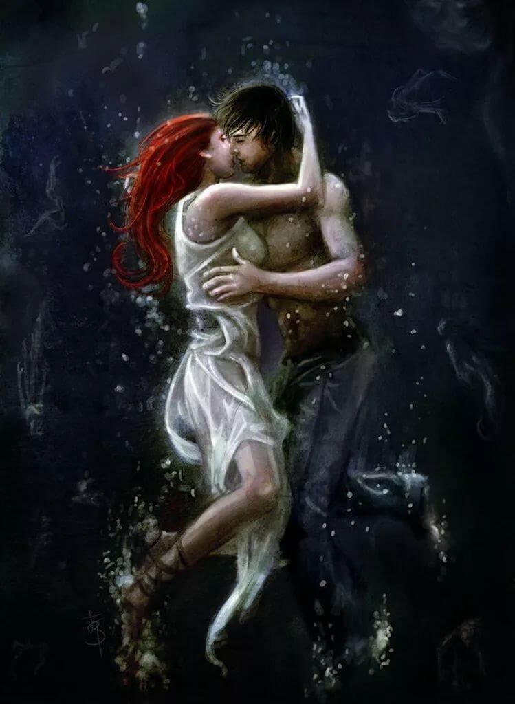 картинки с поцелуями фэнтези