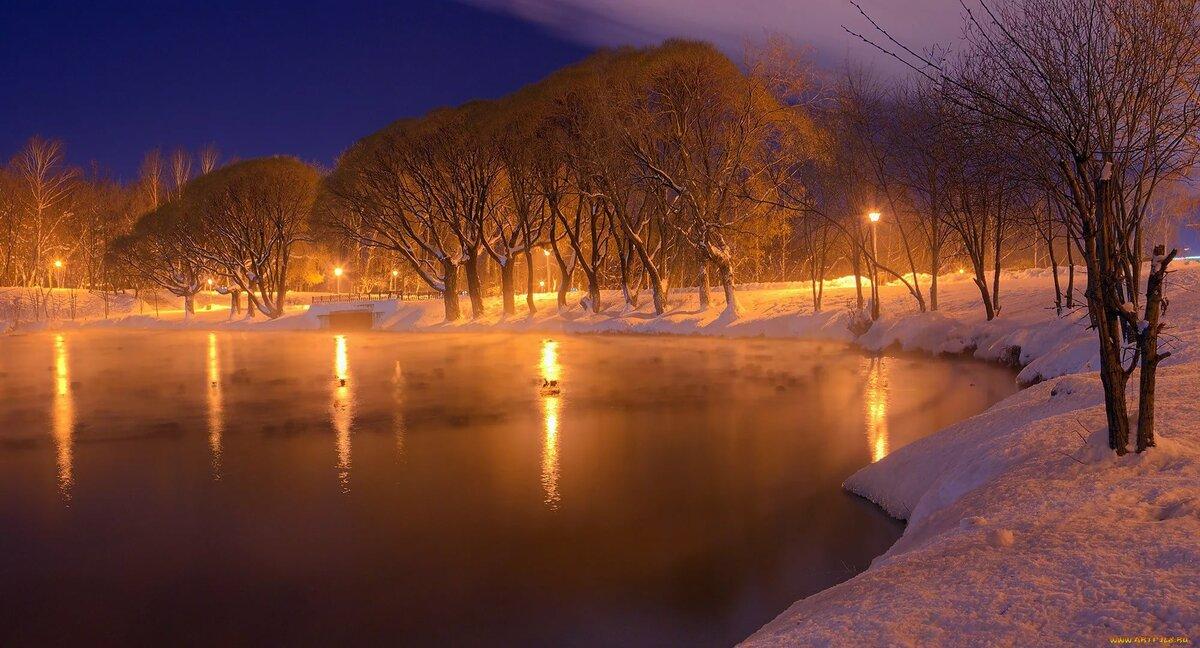Картинки на рабочий стол зимний вечер