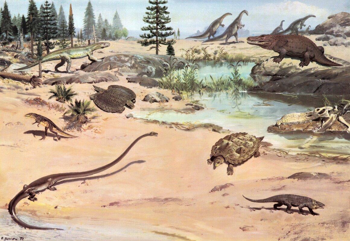 Первые динозавры в картинках