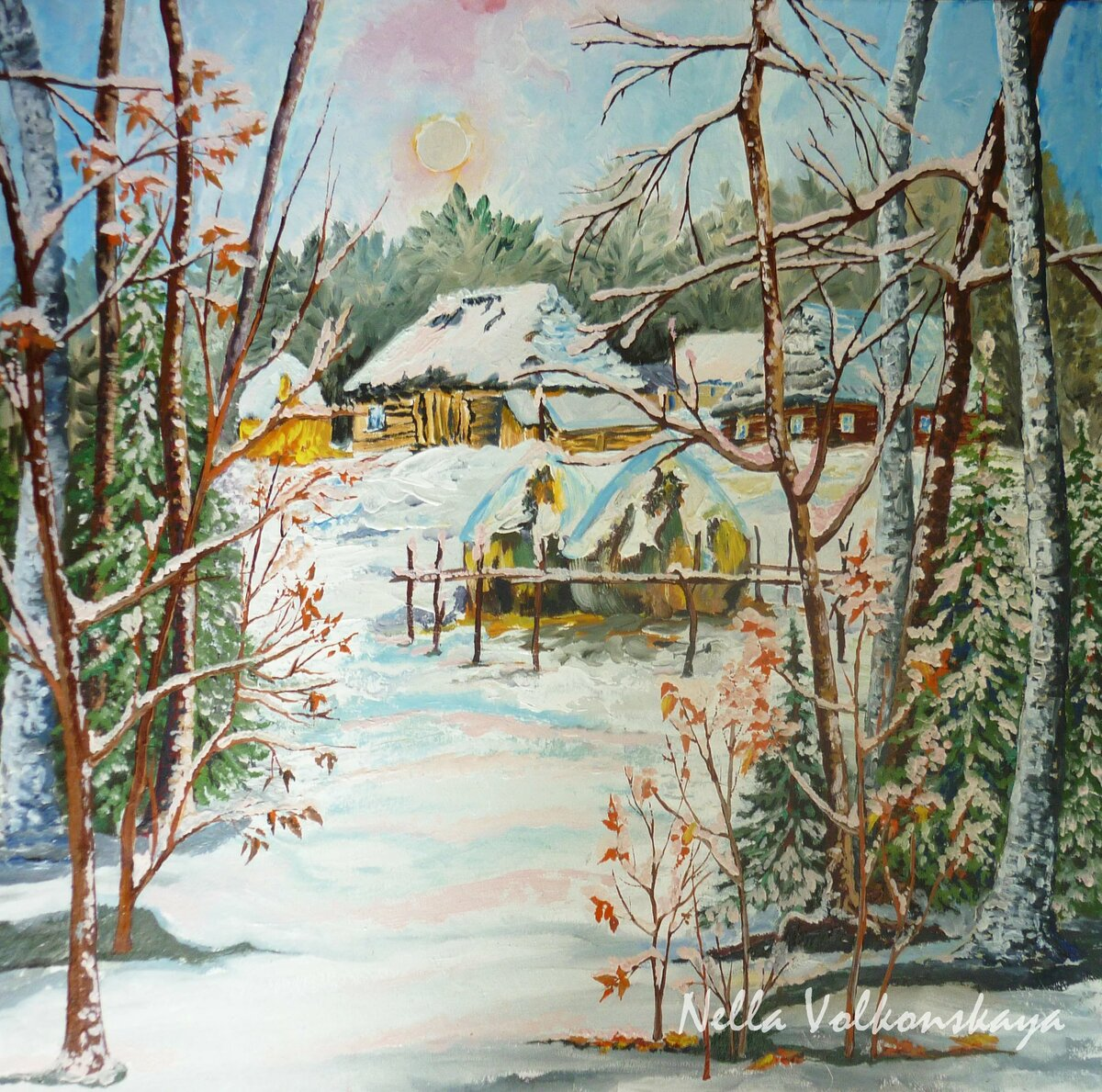 Первый снег на картинах русских художников