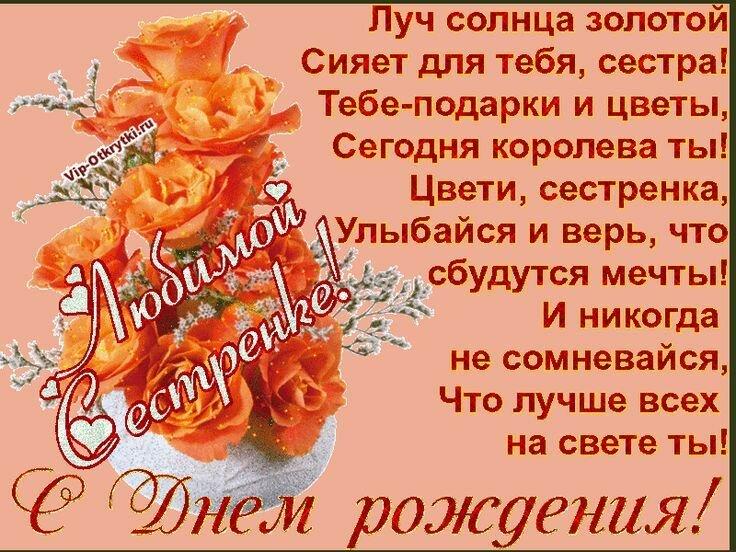 С днем рождения сестра поздравления плейкаст