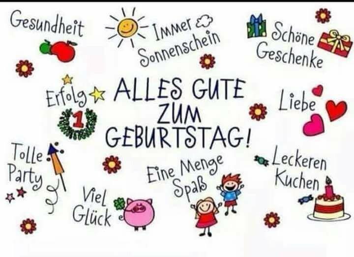 Картинки с днем рождения на немецком