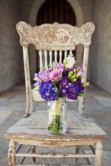 букет винтажный свадебный яркий