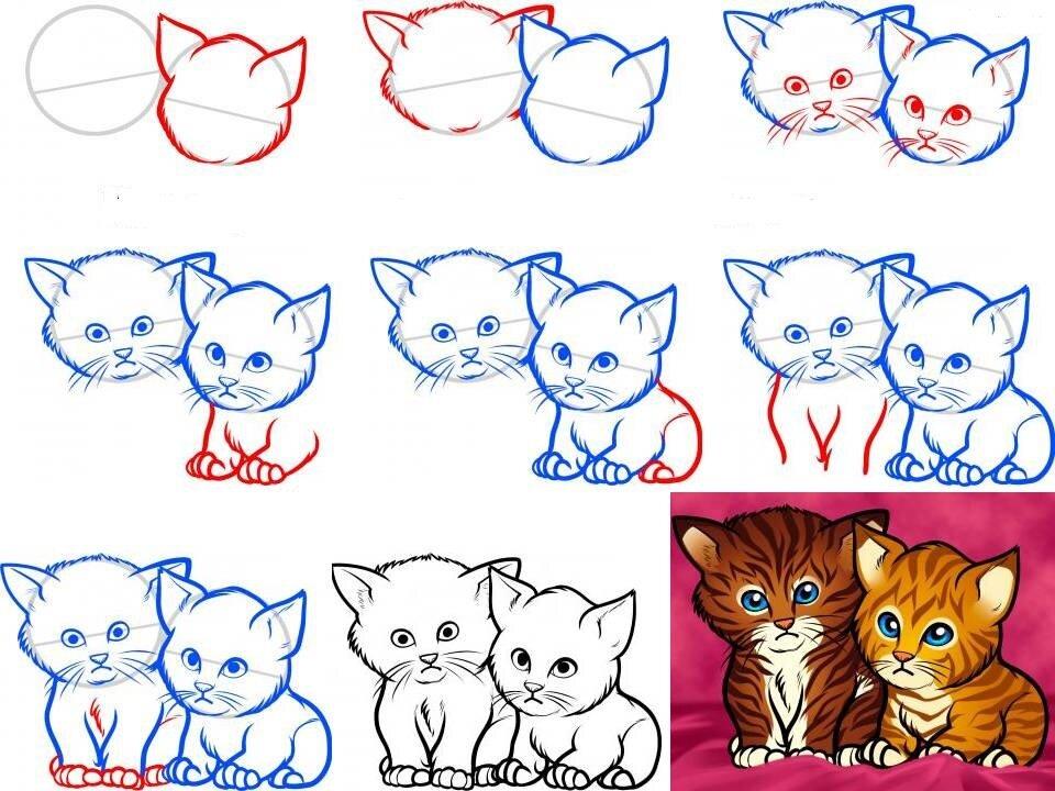 картинки милых котят с милыми глазками поэтапно мозг системы