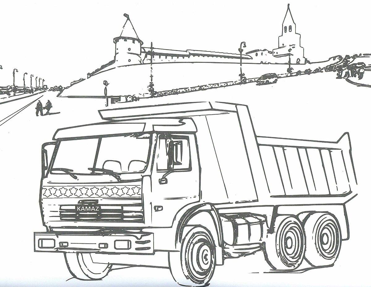 варенье рисунки грузовиков камаз после