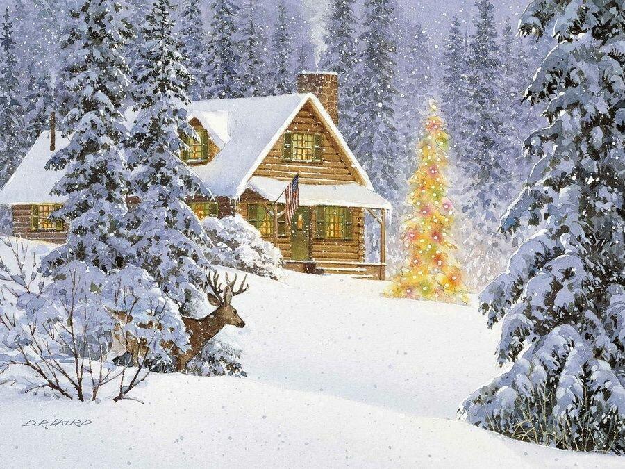Одноклассники зимние картинки