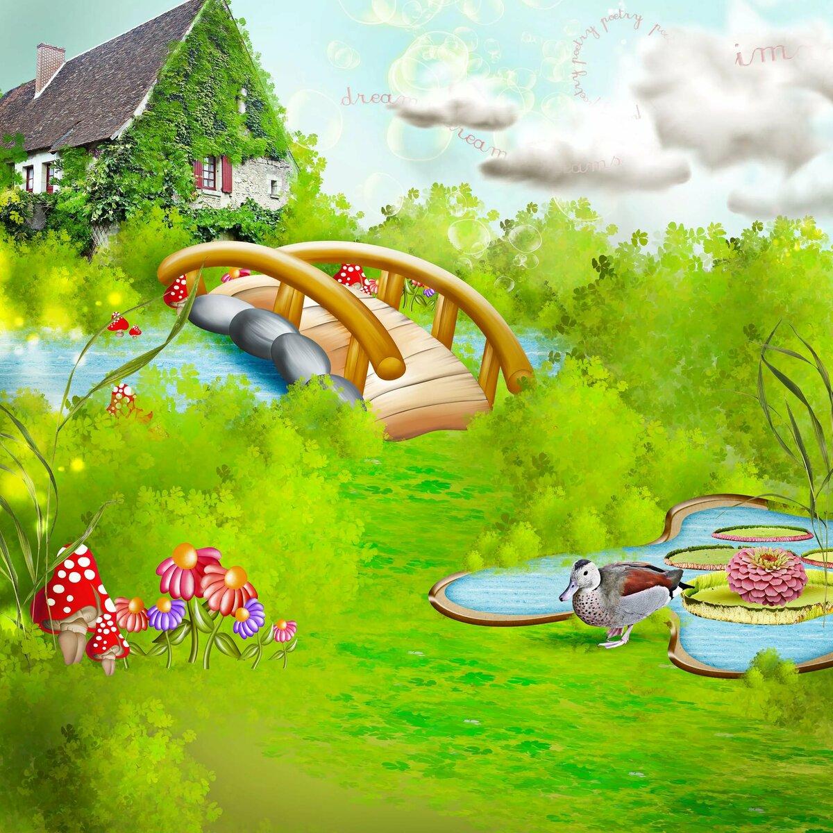 Природа картинки для детей с домиком