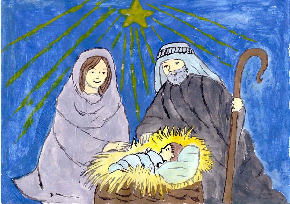 Нарисуй открытку к празднику рождества