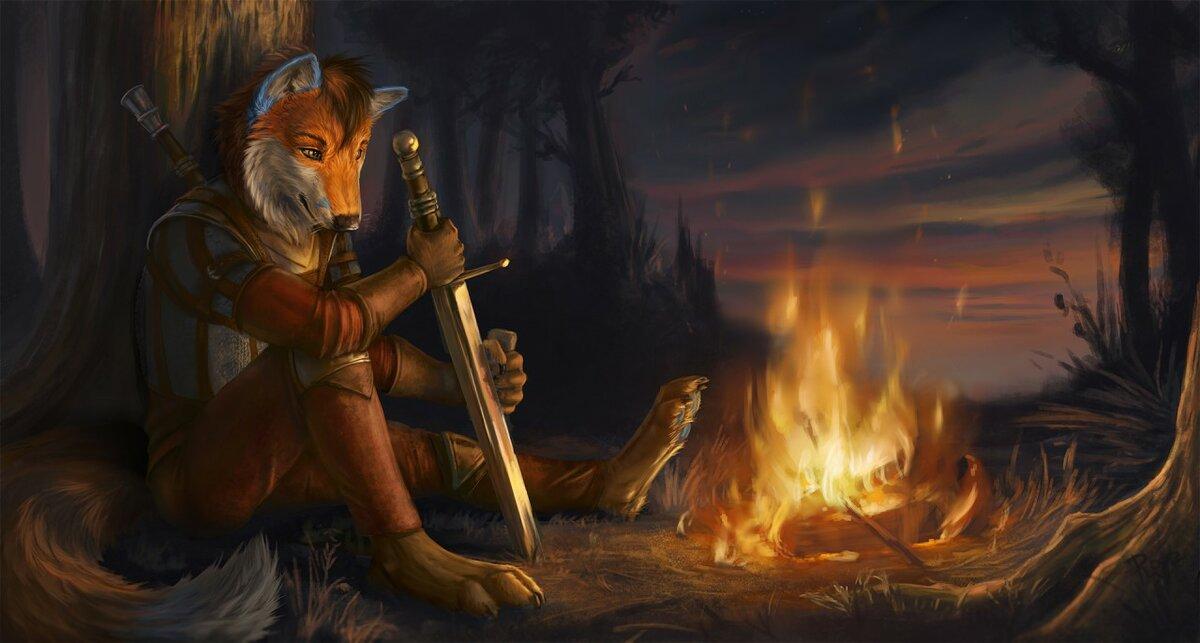 это картинка лиса воин беседа