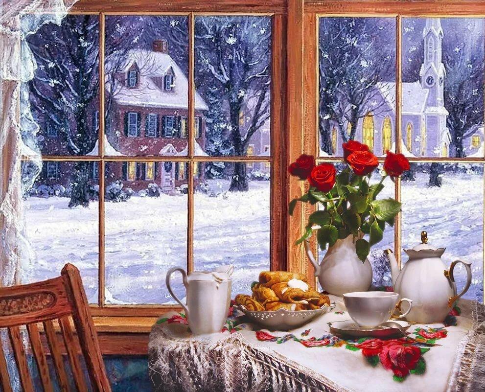 этих картинки зимнее окно могут быть работы