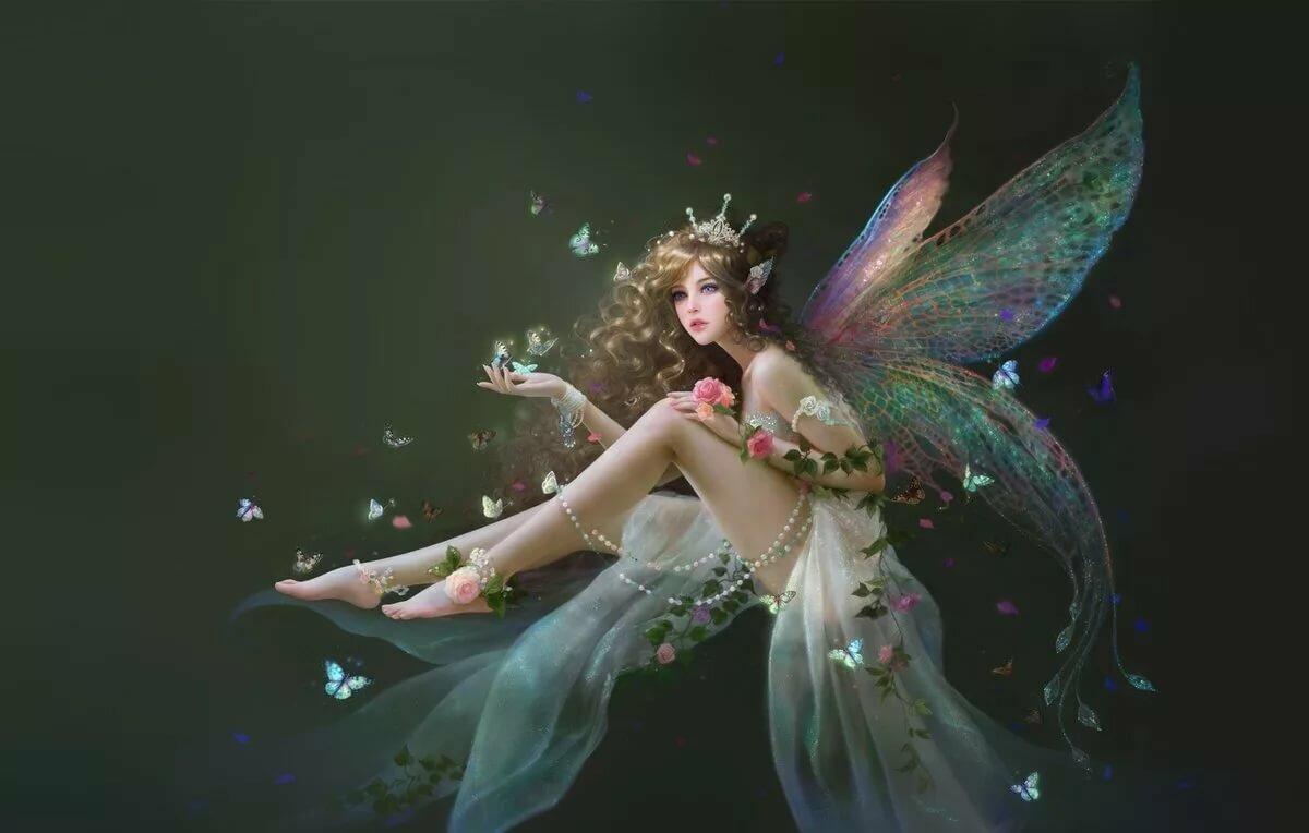 Картинки феи с крыльями