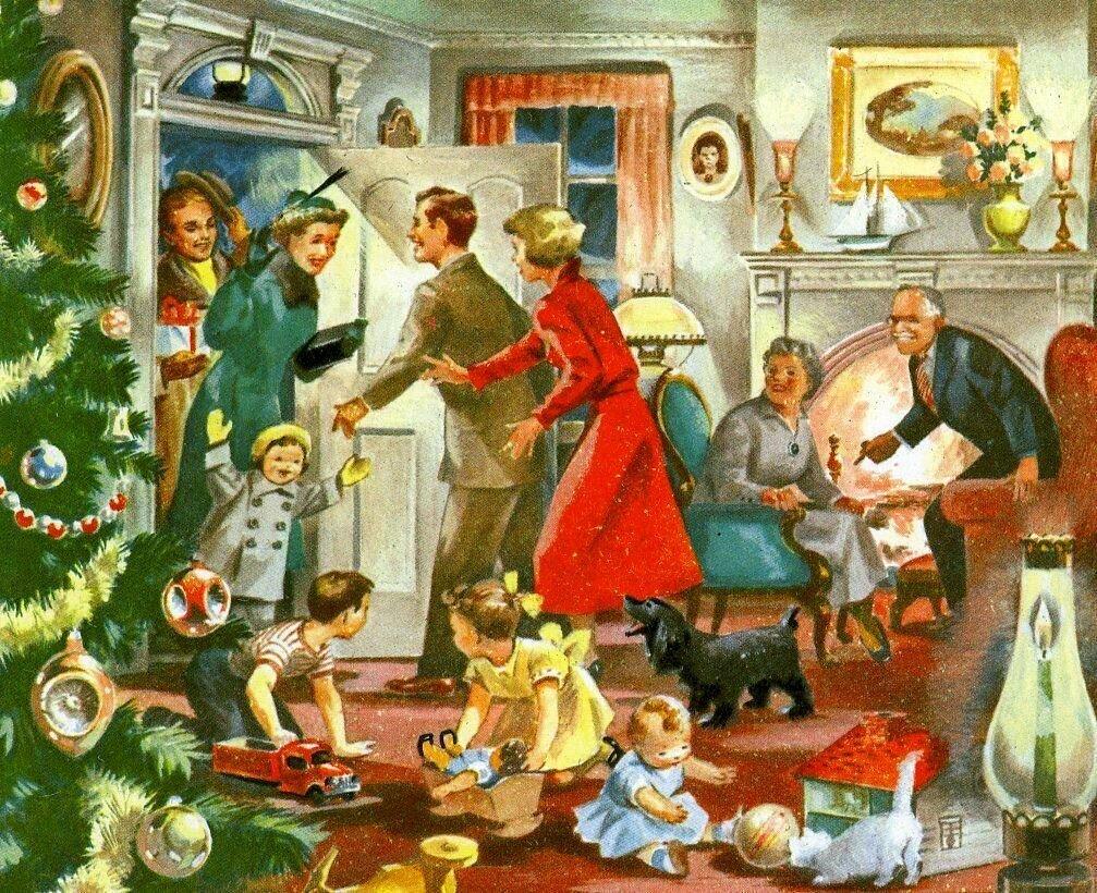 рождественские картинки семьи фишт один брендов