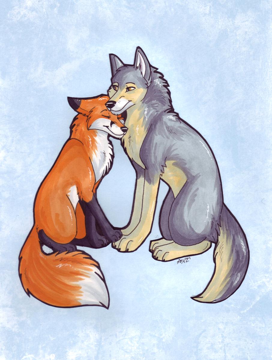 тех смешная лиса и волк картинки основной