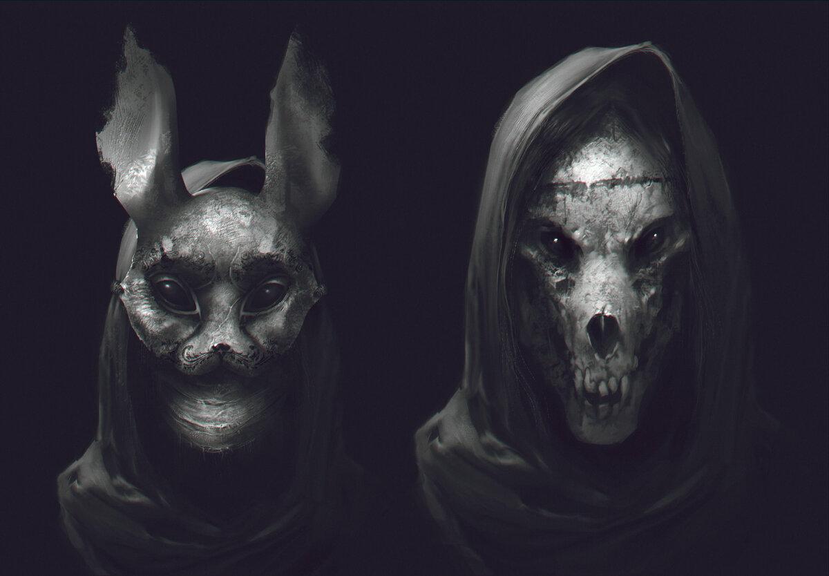 Картинки страшные люди в масках