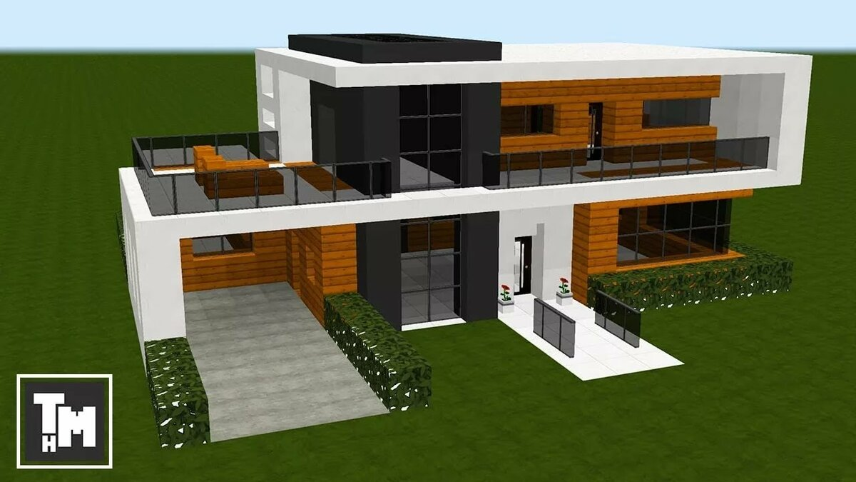 как построить модерн дома в майнкрафте 1.7.2 видео #1