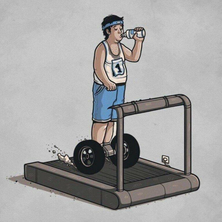 Картинки с юмором про спорт