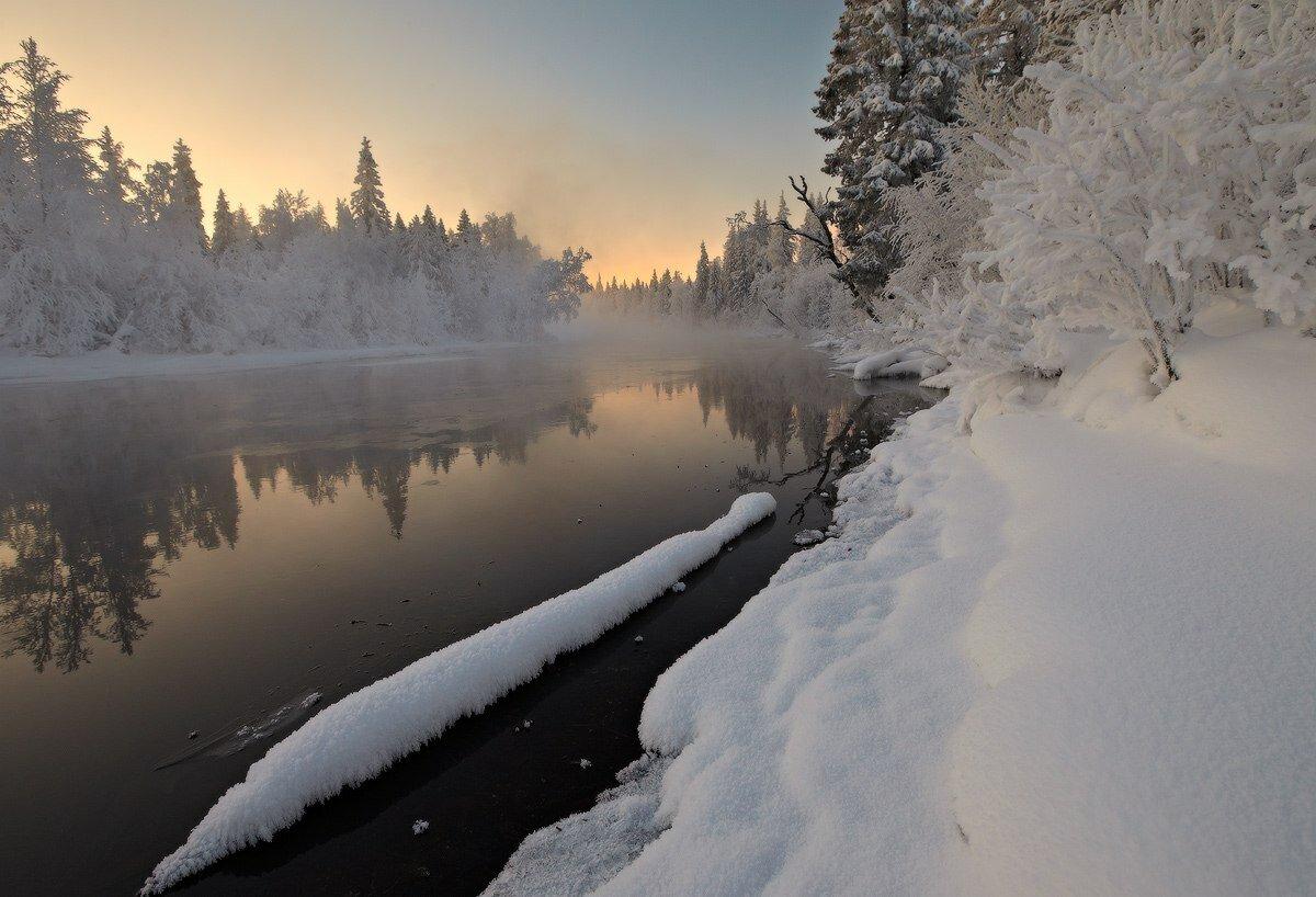 больше фото зимы и речки вам