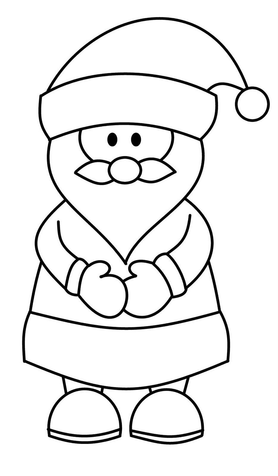 Легкие детские картинки деда мороза