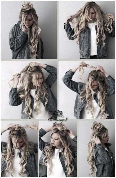 Прическа с распущенными волосами пошаговое фото
