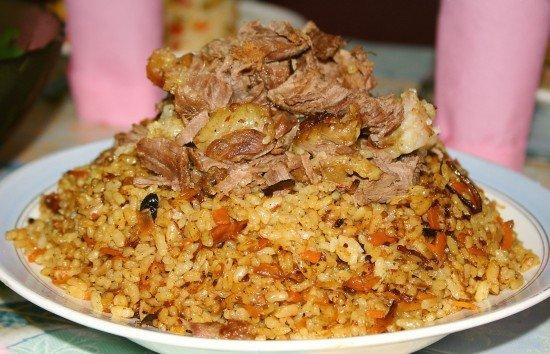 Узбекский плов из курицы рецепт с фото