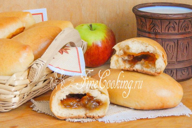 Булочки с яблочным повидлом рецепт с фото