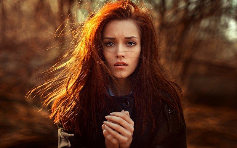 фото девушка с рыжими волосами