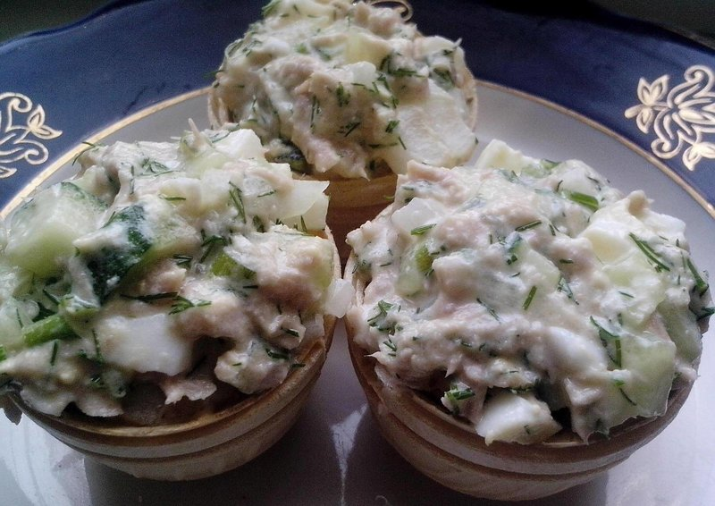 Салаты из морепродуктов рецепты с фото в тарталетках