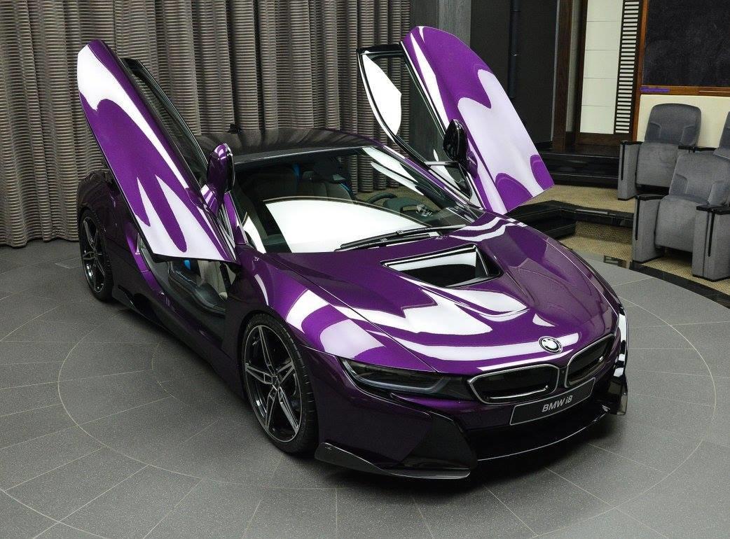 сумеречно-фиолетовый BMW i8