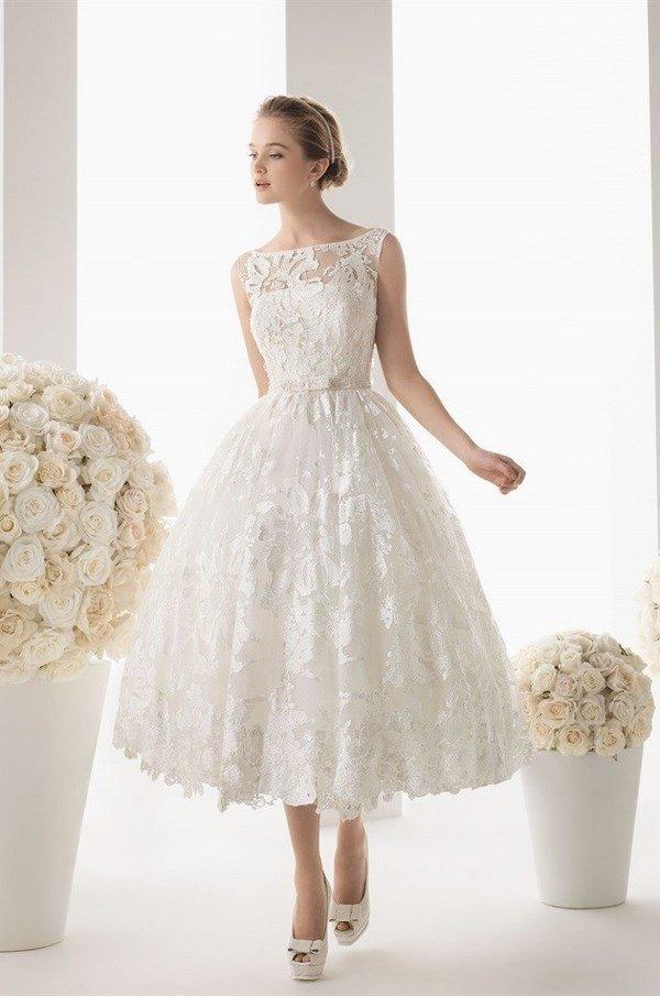 Короткие красивые свадебные платья фото