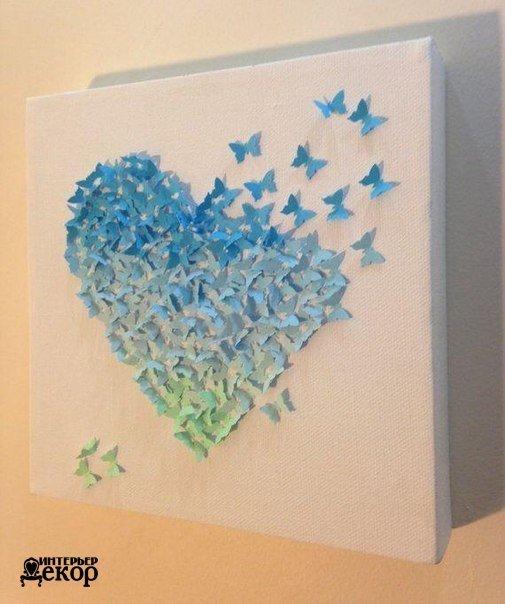 Панно на стену бабочки своими руками