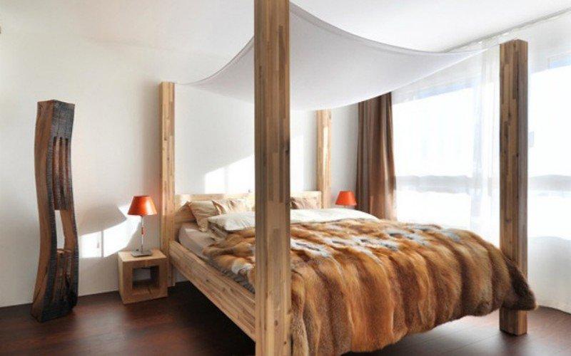 Экстравагантная идея дизайна интерьера шикарной спальни