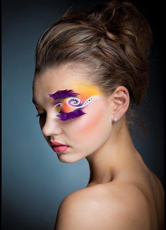 Шикарный акварельный макияж