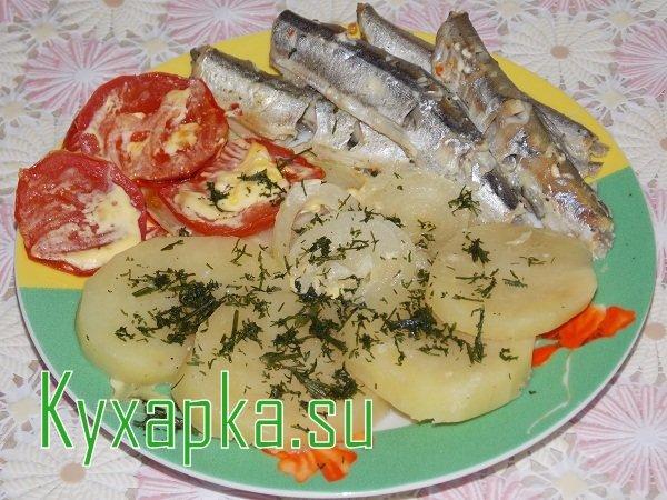Блюда из мойвы с картошкой