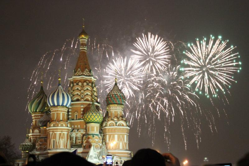 Новый Год на Красной Площади в Москве.