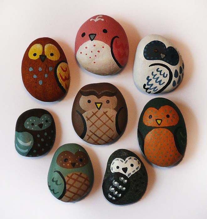 Смешные рисунки на камнях