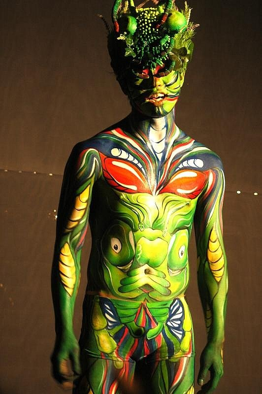Image of naked body paint of male teen xxx