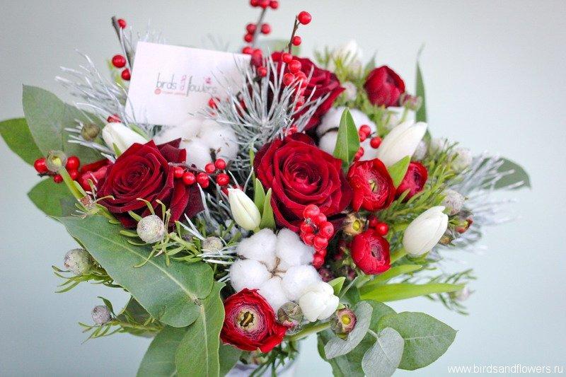 Зимние букеты цветов фото красивые