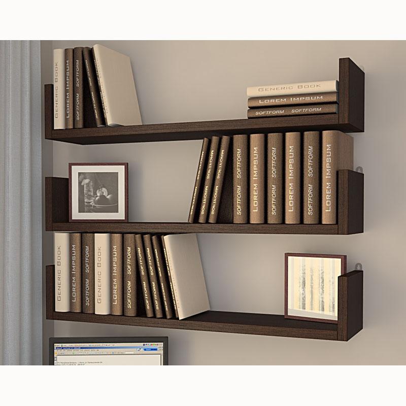 полки настенные для книг фото