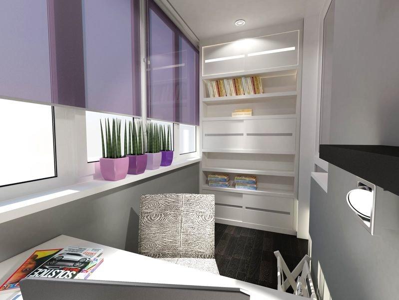 """Дизайн-проект кабинета-балкона в квартире в царицыне"""" - карт."""