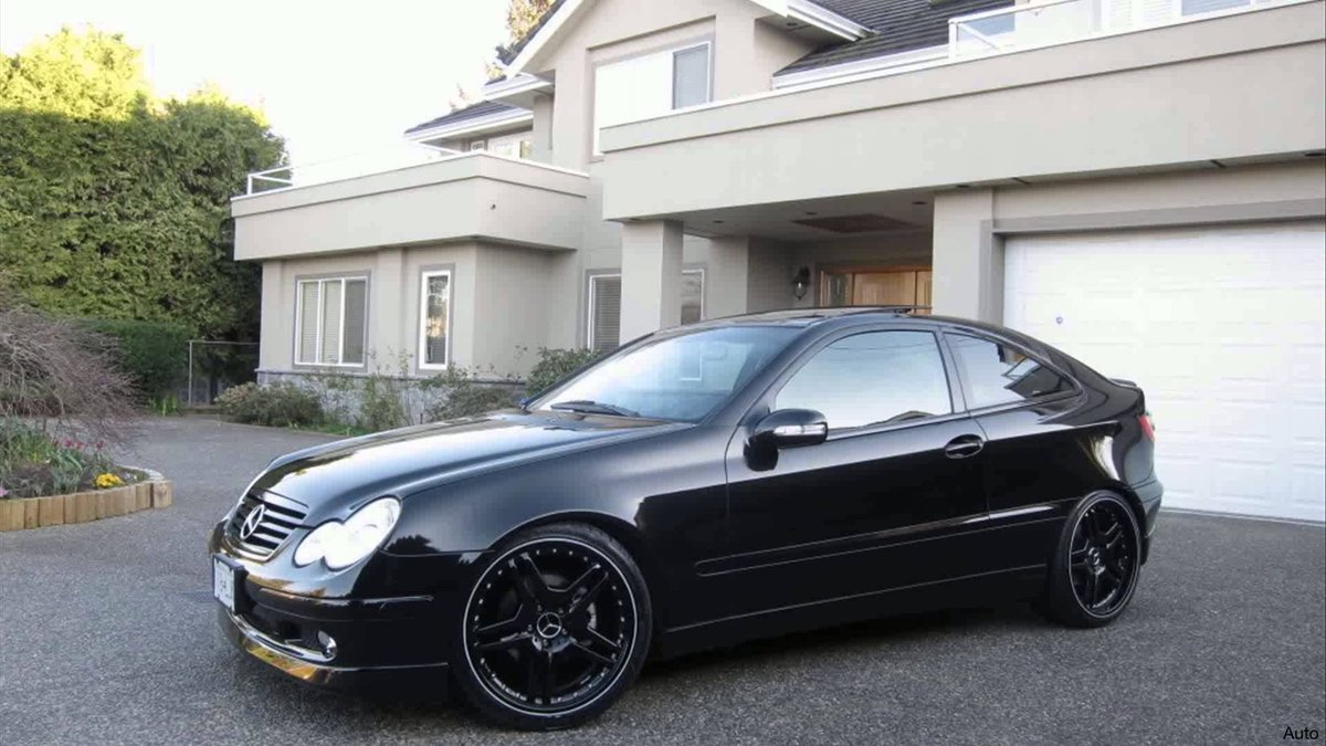 mercedes w203 coupe auto amg drift spoiler aykam card. Black Bedroom Furniture Sets. Home Design Ideas