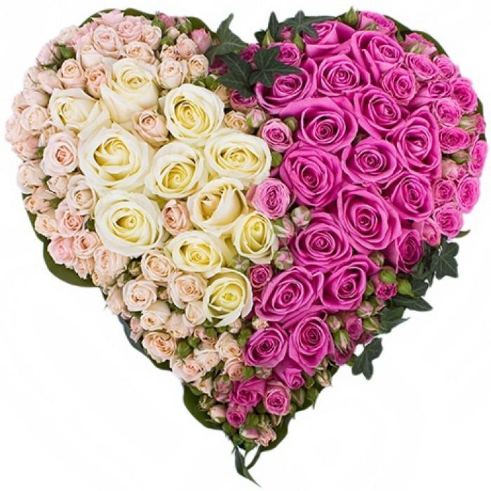День, картинки сердечные цветочные