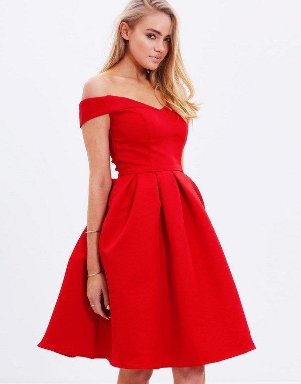 Вечерние платья красные короткие